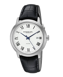Đồng hồ nam Raymond Weil Maestro Silver Leather 2237-STC-00659