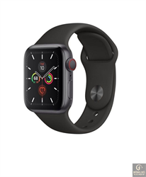 Đồng hồ Apple Watch Series 5 GPS + Cellular, 44mm Stainless Steel Case with Sport Band